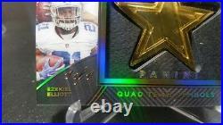 2016 Panini Black Gold Dallas Cowboys Quad Team Symbol Ezekiel Elliott 1of1 1/1
