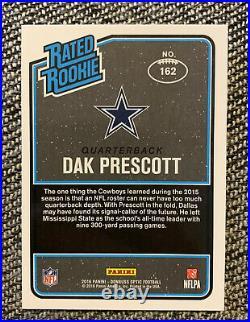 2016 Panini Donruss Optic HOLO Dak Prescott Rate Rookie #162 RC Cowboys
