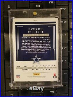 2016 Panini National Treasures Ezekiel Elliott Auto Rookie RC #'d 13/25 Cowboys