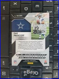 2016 Panini Prizm Dak Prescott RWB Red White Blue Rookie RC Auto #'d /11 Cowboys