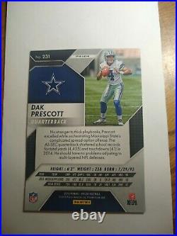 2016 Panini Prizm Dak Prescott Rookie RC Cowboys #231