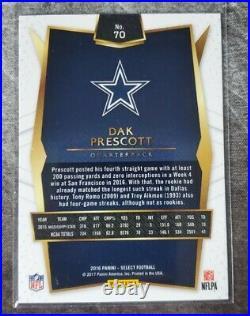2016 Panini Select Dak Prescott Silver RC #70 Rookie Dallas Cowboys Pristine