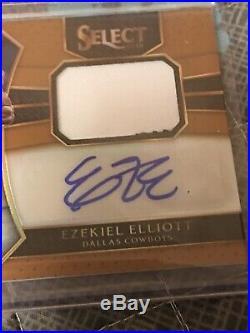 2016 Panini Select Ezekiel Elliott Rookie Auto Rpa 31/35 DALLAS COWBOYS