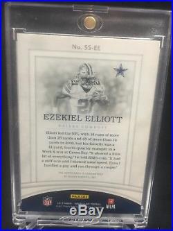 2017 Ezekiel Elliott Immaculate On Card Auto Acetate Cowboys 12/25
