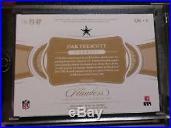 2018 Dak Prescott Panini Flawless 3 clr Patch Autograph #08/15 Dallas Cowboys