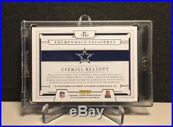 2018 Ezekiel Elliott Panini National Treasures Game-Used Nike Swoosh Patch 1/1