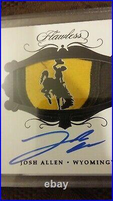 2018 Flawless Josh Allen RPA Auto 1/1 Cowboy Collegiate Shield Logo Rookie