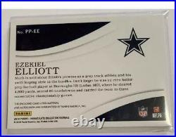 2018 Immaculate Ezekiel Elliott 1/1 Game Worn NFL SHIELD AUTO SP Cowboys