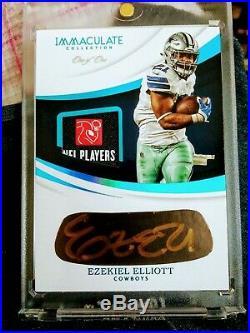 2018 Immaculate Ezekiel Elliott One of One Eye Black NFL Laundry Tag Auto 1/1