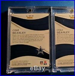 2018 Immaculate Lot 6 Game Used Jumbo /10 Patch + Auto 2017 /99 Cole Beasley