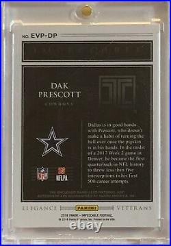 2018 Impeccable Dak Prescott Elegance Silver Jersey Autograph Auto #13/25