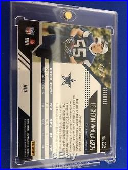 2018 Panini Unparalleled Leighton Vander Esch 1/1 One Of One RC Cowboys DROY