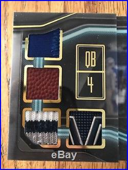 2018 Playbook Vault 8 Relic Auto Dak Prescott 01/10 Cowboys
