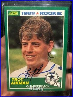 2019 Score Buyback TROY AIKMAN RC AUTO /5 Rookie Autograph 1989 SP SSP