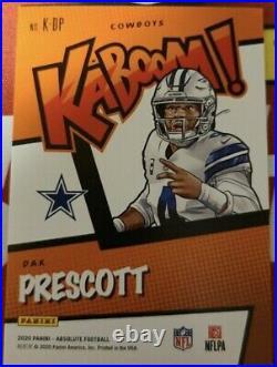 2020 ABSOLUTE Dak Prescott KABOOM Gold #7/10 SSSP CARD #K-DP CASE HIT