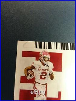 2020 Ceedee Lamb Contenders Draft Ticket Touchdown Auto 6/6 1/1 Rc On Card