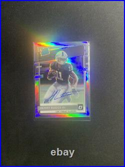2020 Henry Ruggs III Auto Holo Optic Rated Rookie /99 NFL Football Card RC