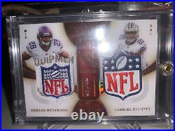 2020 Immaculate Dual NFL Shields Collection Adrian Peterson Ezekiel Elliott 1/1