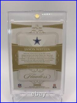 2020 Jason Witten Dual Patch Auto /15 Panini NFL Flawless! Sick Patches