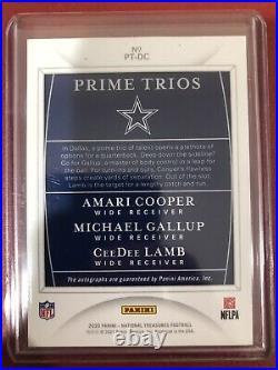 2020 National Treasures Prime Trios Amari Cooper/Michael Gallup/CeeDee Lamb /10