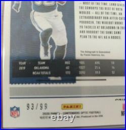 2020 Optic Contenders Football Rookie Ticket CeeDee Lamb Blue On Card Auto 93/99