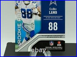 2020 Panini Certified Football CeeDee Lamb Rookie Roll Call Auto 18/50 Cowboys