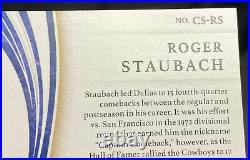 2020 Panini Immaculate Roger Staubach Comeback Signatures Auto Cowboys 8/10