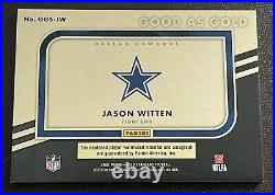 2021 Panini Gold Standard Jason Witten Good As Gold Patch Auto! #34/35! Cowboys