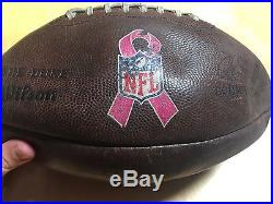 2 NFL Game Used Dallas Cowboys Breast Cancer Awareness Footballs
