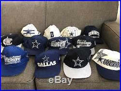 90s Dallas Cowboys SnapBack Collection Lot 12 Hat Cap Vtg NFL Spellout Trucker