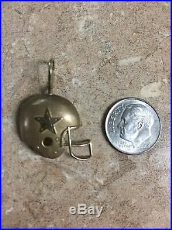 90s Vintage Michael Anthony 14K fine Gold NFL Dallas Cowboys Charm Pendant VTG