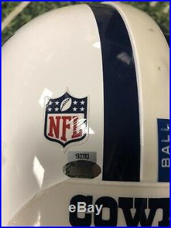 Alan Ball #20 Dallas Cowboys Game Used Helmet Throwback Thanksgiving Steiner