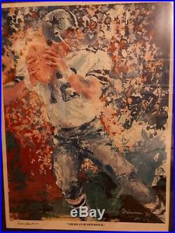 Americas Quarterback Staubach/Neiman Framed Dual Auto. Dallas Cowboys 135/350