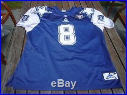 Apex Troy Aikman Dallas Cowboys 75th Authentic Football NFL Jersey 2XL XXL vtg