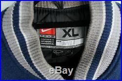 Authentic Vintage Nike Dallas Cowboys Letterman Varsity Jacket Wool Leather XL