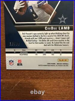 CeeDee Lamb 2020 Mosaic Blue Prizm Rookie #207 Sooners Dallas Cowboys 18/99 RC