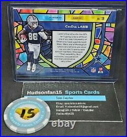 CeeDee Lamb 2020 Panini Prizm Stained Glass #19 1 in 5 Cases Dallas Cowboys RC