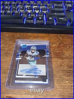 Ceedee Lamb Chronicles Donruss Clearly Rated Rookie Auto