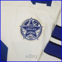 Champion Throwbacks Vtg Collection Cowboys 12 Staubach Superbowl VI Jersey X-lrg