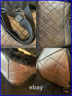Chanel Paris-Dallas Limited Edition Cowboy Messenger Bag Quilted Calfskin W Fur