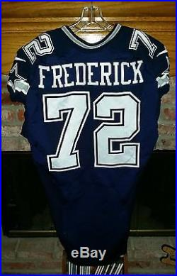 DALLAS COWBOYS TRAVIS FREDERICK GAME USED GAME WORN JERSEY   PANTS With  LETTER fc36a8a0f