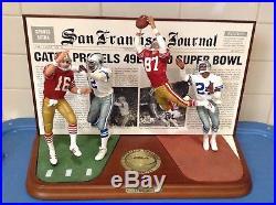 DANBURY MINT SAN FRANCISCO 49ERS vs DALLAS COWBOYS The CATCH
