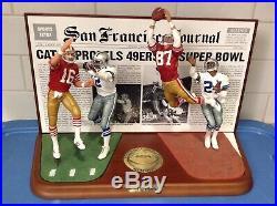 DANBURY MINT SAN FRANCISCO 49ers vs DALLAS COWBOYS The CATCH // RARE