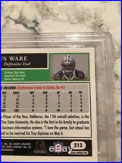 DEMARCUS WARE 2005 Topps Chrome Black Refractor RC s/n=Jersey # 094/100 PSA 9