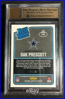 Dak Prescott 2016 Optic Football Black /25 BGS 9.5