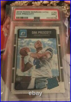Dak Prescott 2016 Panini Donruss Optic Rated Rookie Card RC PSA 9 #162 Buy Low