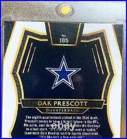 Dak Prescott 2016 Select Pink Prizm Silver Rookie Card #185 /15 Non Auto RC SP