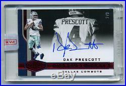 Dak Prescott 2018 Plates&Patches Autograph Auto #2/3 Dallas Cowboys QB