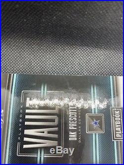 Dak Prescott 2018 Playbook Vault 1/1 Auto Shield Swoosh Logo Cowboys