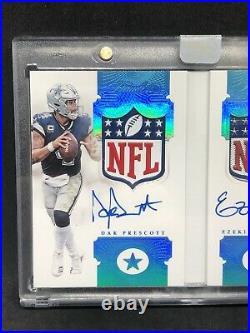 Dak Prescott Ezekiel Elliott 2018 Flawless Game Used NFL SHIELD Auto 1/1 Booklet